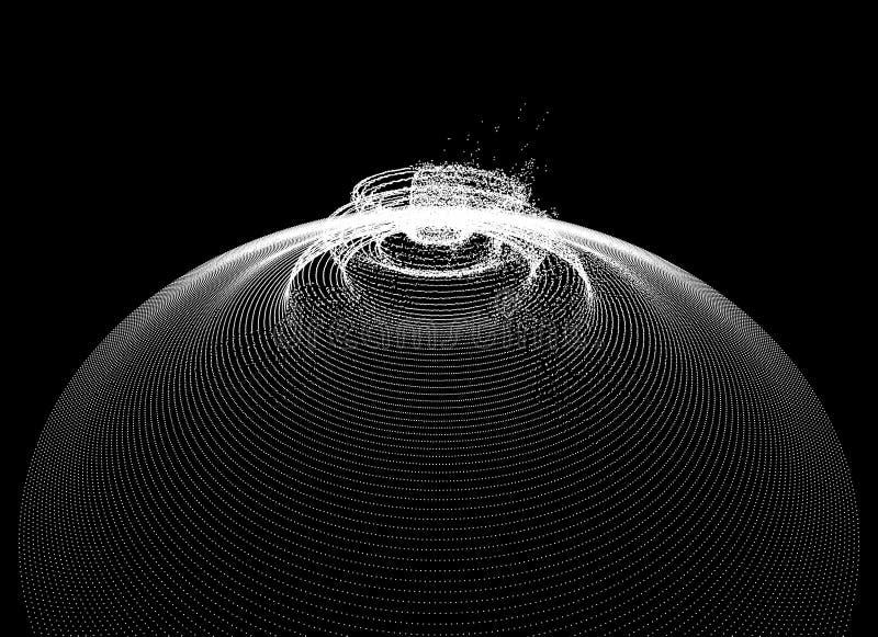 Υπόβαθρο με την έκρηξη Αφηρημένη διανυσματική απεικόνιση με τη δυναμική επίδραση τρισδιάστατο φουτουριστικό ύφος τεχνολογίας μπορ ελεύθερη απεικόνιση δικαιώματος