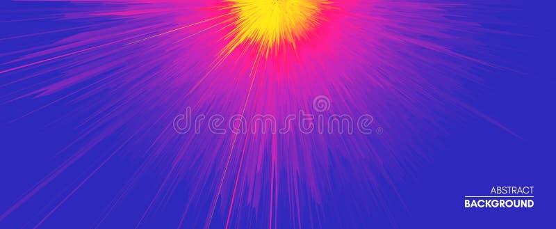Υπόβαθρο με την έκρηξη Δυναμικές γραμμές Starburst Ηλιακή ή εκπομπή αστροφεγγιάς r r απεικόνιση αποθεμάτων