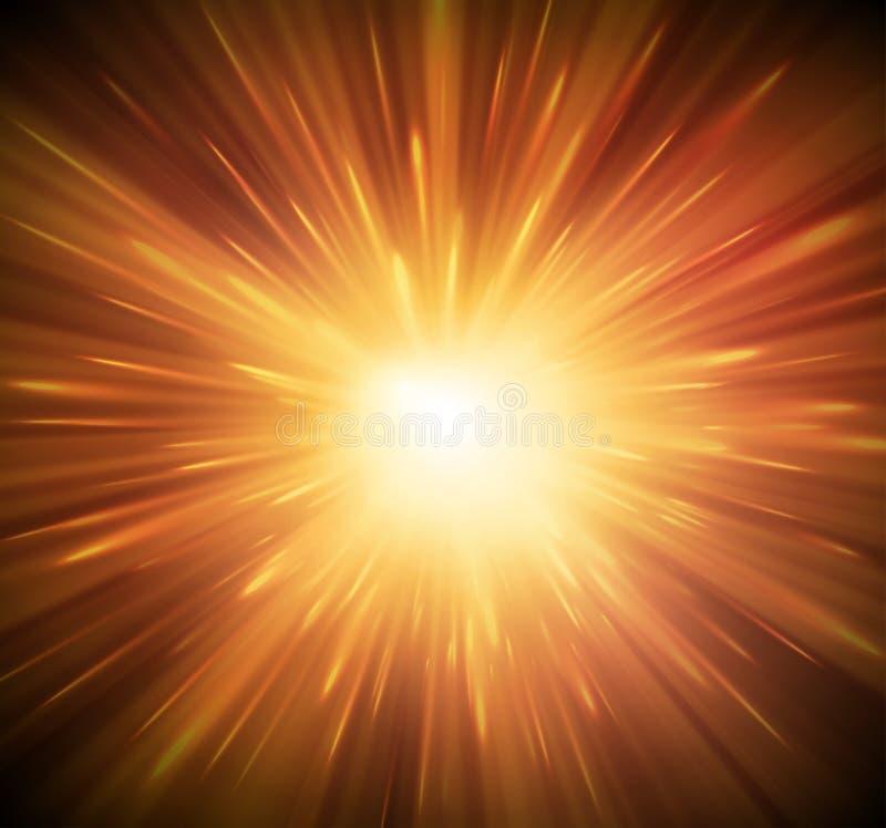 Υπόβαθρο με την έκρηξη διανυσματική απεικόνιση