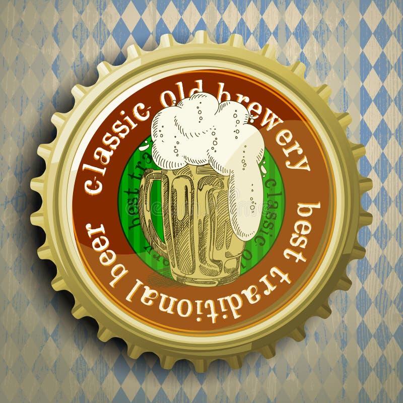 Υπόβαθρο με την μπύρα ΚΑΠ διανυσματική απεικόνιση