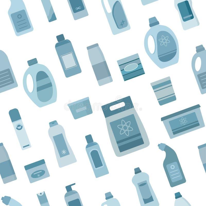 Υπόβαθρο με τον καθαρισμό των προμηθειών απεικόνιση αποθεμάτων