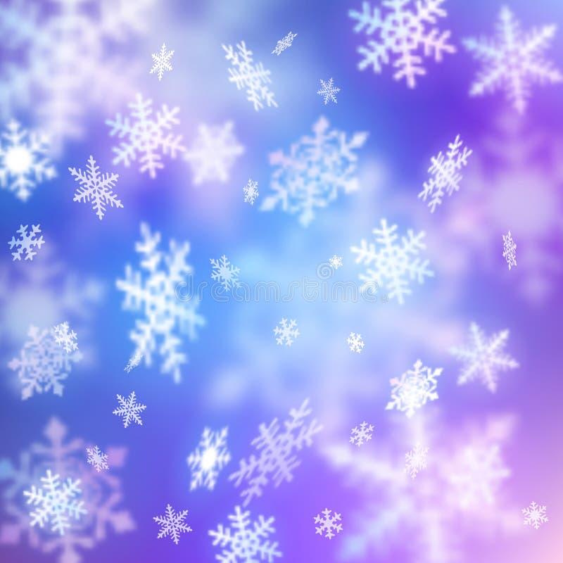 Υπόβαθρο με το χιόνι απεικόνιση αποθεμάτων