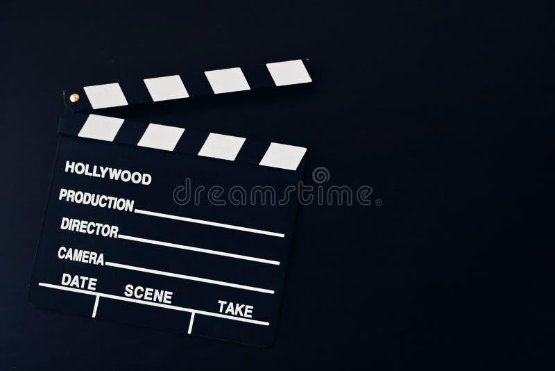 Υπόβαθρο με clapboard κινηματογράφων στοκ φωτογραφίες με δικαίωμα ελεύθερης χρήσης
