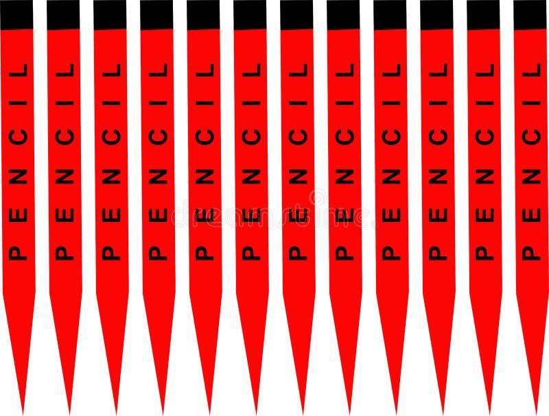 Υπόβαθρο μολυβιών, ζωηρόχρωμο αφηρημένο γεωμετρικό άνευ ραφής σχέδιο, διάνυσμα απεικόνιση αποθεμάτων