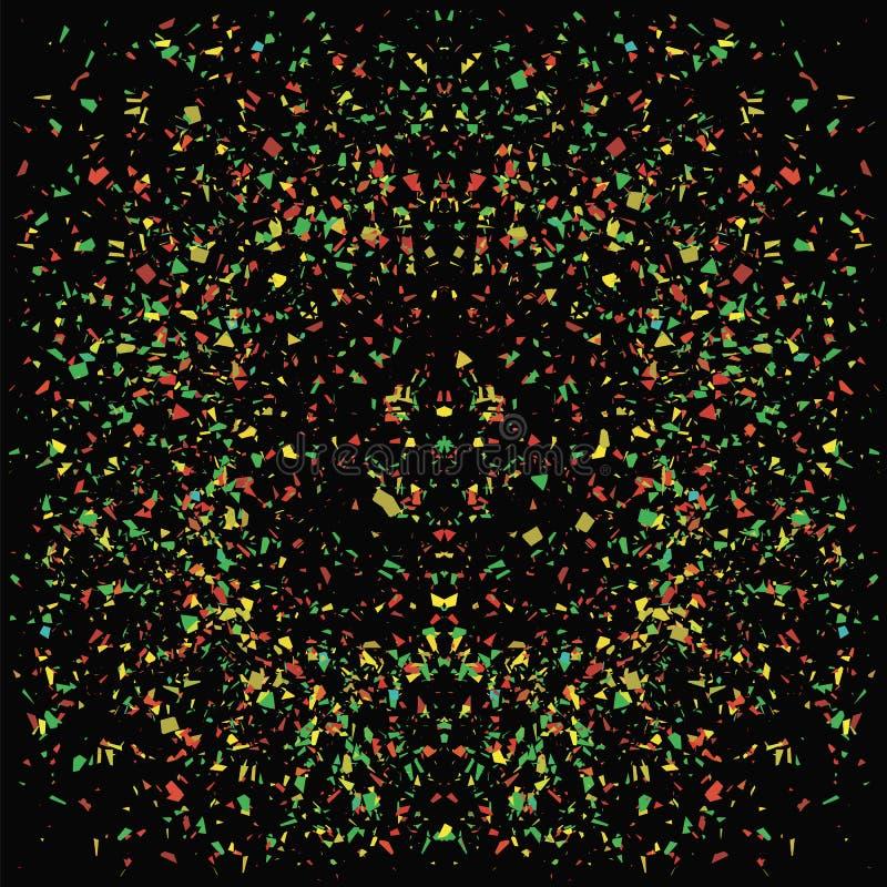 Υπόβαθρο μορίων ζωηρόχρωμο κομφετί διανυσματική απεικόνιση