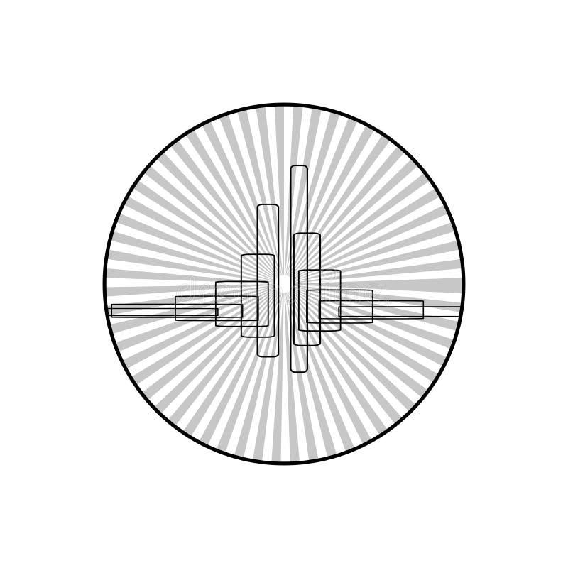 Υπόβαθρο μουσικής Ακουστικό εικονίδιο εξισωτών Υγιές κύμα Αφηρημένο διανυσματικό στοιχείο για το σχέδιο μουσικής με τον εξισωτή r διανυσματική απεικόνιση