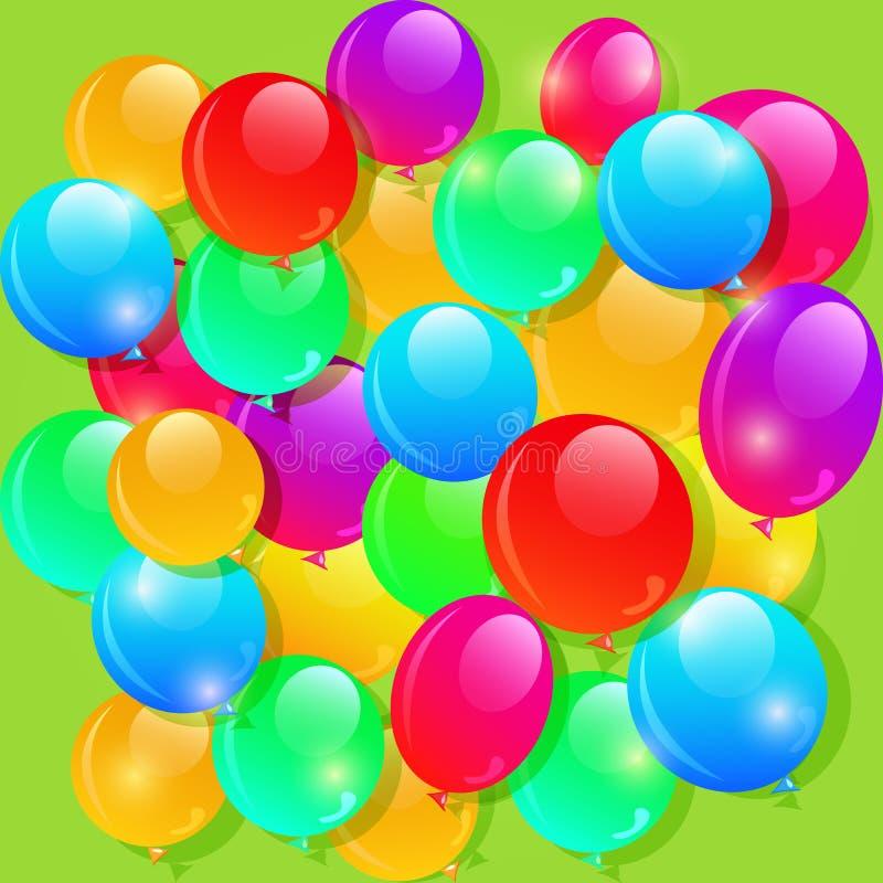 Υπόβαθρο μπαλονιών χρώματος για το σχέδιο συνήθειας διανυσματική απεικόνιση