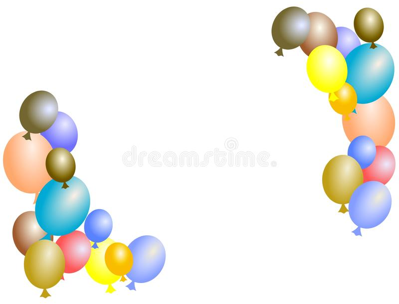 Υπόβαθρο μπαλονιών ελεύθερη απεικόνιση δικαιώματος