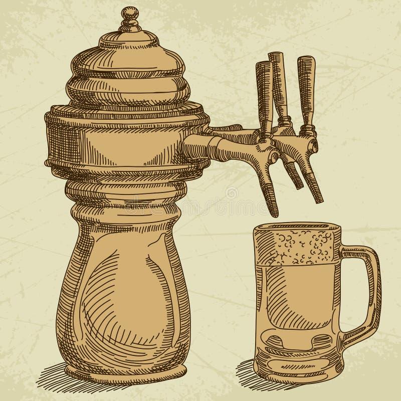 Υπόβαθρο μπύρας διανυσματική απεικόνιση