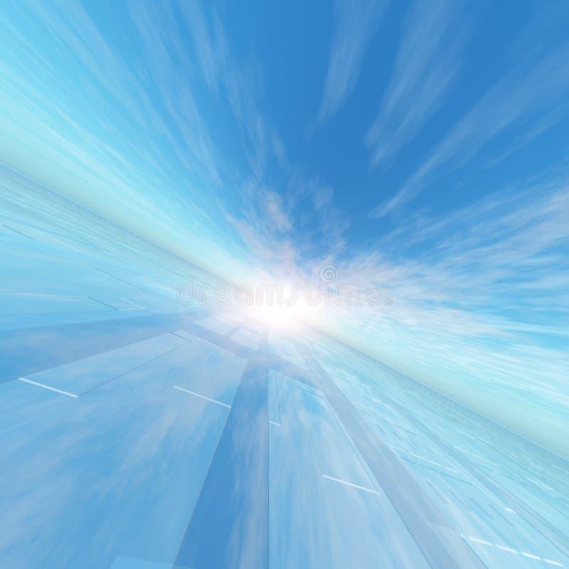 Υπόβαθρο μπλε ουρανού πλέγματος σημείου οριζόντων ελεύθερη απεικόνιση δικαιώματος