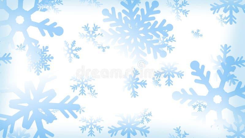 Υπόβαθρο νιφάδων χιονιού απεικόνιση αποθεμάτων