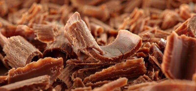 Υπόβαθρο ξυρίσματος σοκολάτας στοκ εικόνα