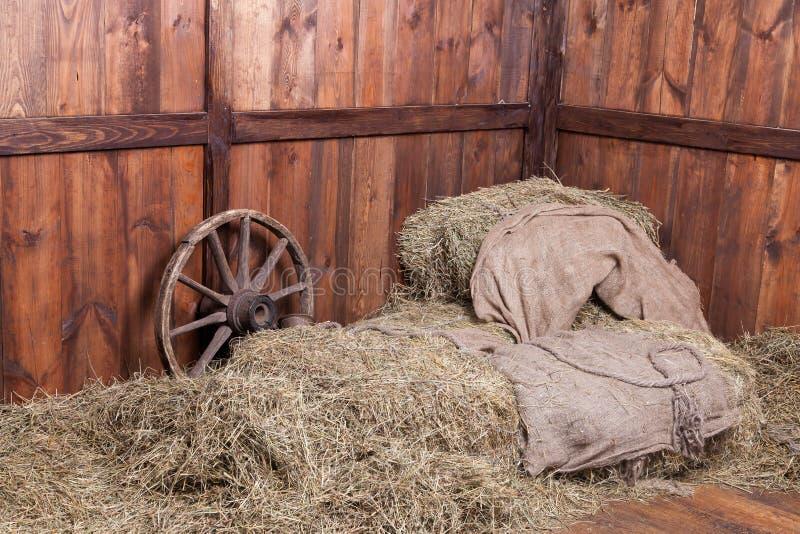 Υπόβαθρο ξύλου και σανού στοκ φωτογραφία με δικαίωμα ελεύθερης χρήσης