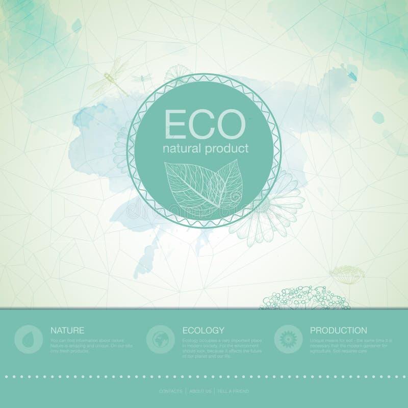 Υπόβαθρο οικολογίας απεικόνιση αποθεμάτων