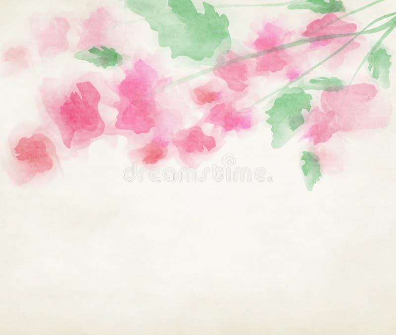 Υπόβαθρο λουλουδιών νερού χρώματος απεικόνιση αποθεμάτων