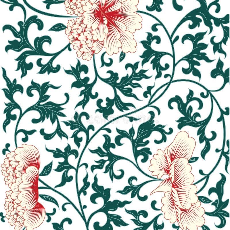 Υπόβαθρο λουλουδιών στο κινεζικό ύφος απεικόνιση αποθεμάτων