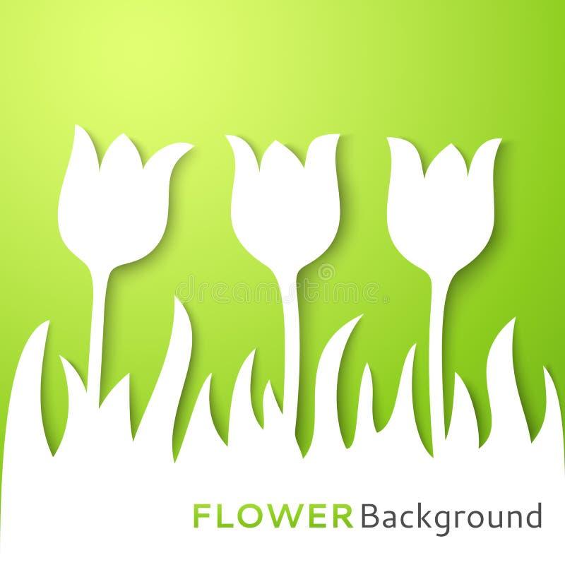 Υπόβαθρο λουλουδιών applique. Διανυσματική απεικόνιση απεικόνιση αποθεμάτων