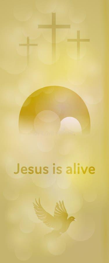 Υπόβαθρο Πάσχας - ο Ιησούς είναι ζωντανός απεικόνιση αποθεμάτων