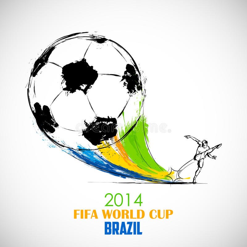 Υπόβαθρο Παγκόσμιου Κυπέλλου της FIFA διανυσματική απεικόνιση