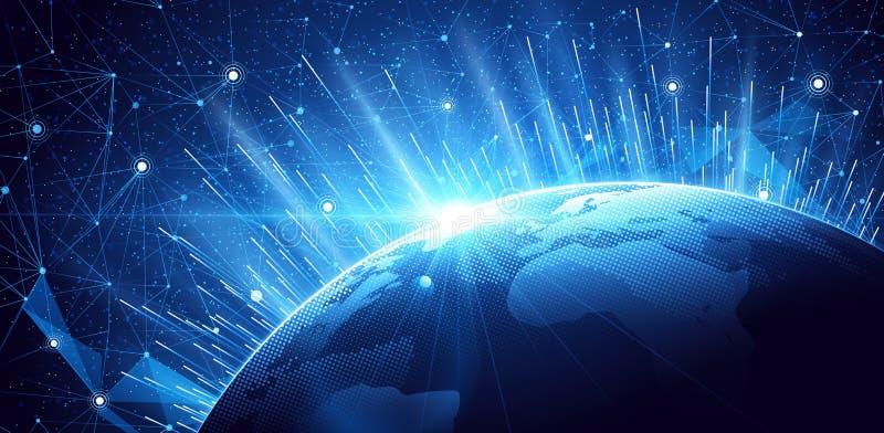 Υπόβαθρο παγκόσμιων δικτύων απεικόνιση αποθεμάτων