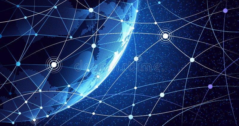 Υπόβαθρο παγκόσμιων δικτύων διανυσματική απεικόνιση