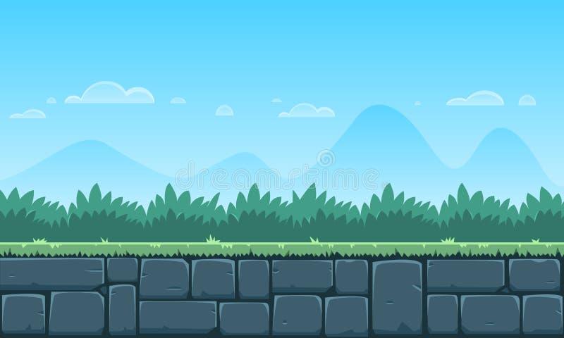 Υπόβαθρο παιχνιδιών κινούμενων σχεδίων απεικόνιση αποθεμάτων
