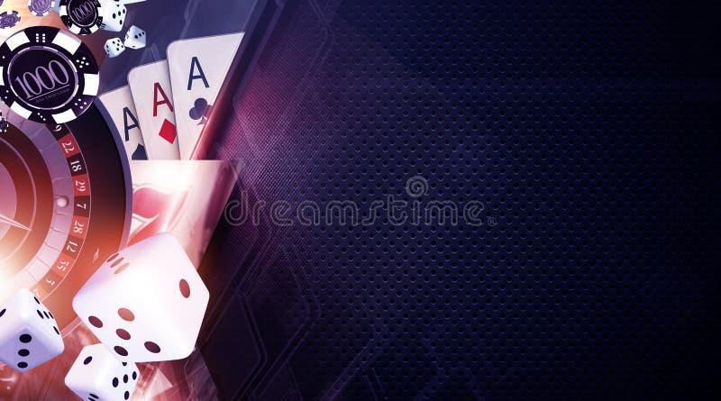Υπόβαθρο παιχνιδιών Vegas ελεύθερη απεικόνιση δικαιώματος