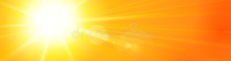 Υπόβαθρο πανοράματος εμβλημάτων blue_sunny_sky διανυσματική απεικόνιση