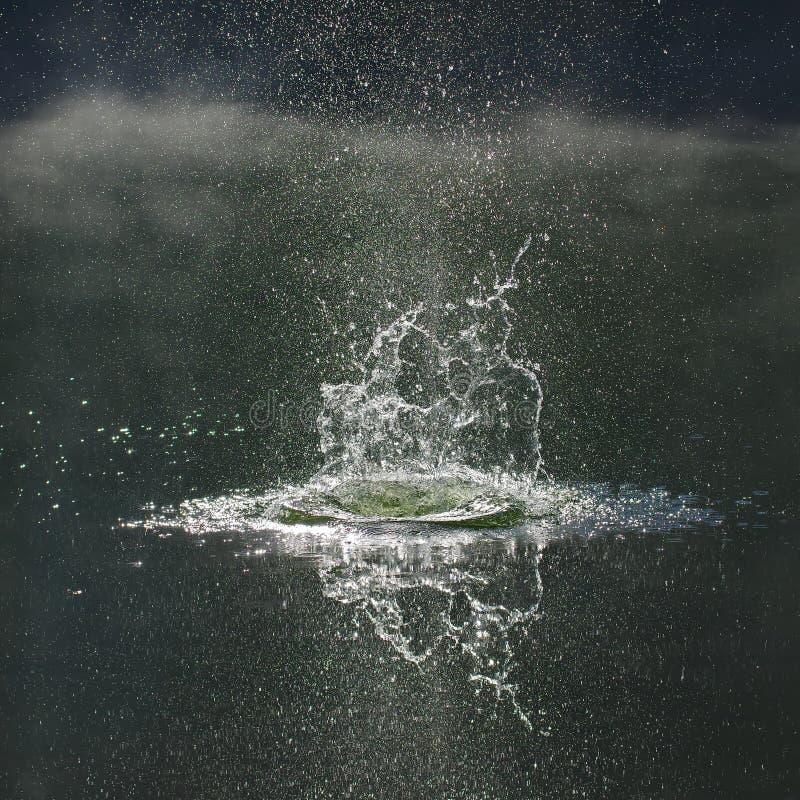 Υπόβαθρο 6 παφλασμών νερού στοκ φωτογραφία