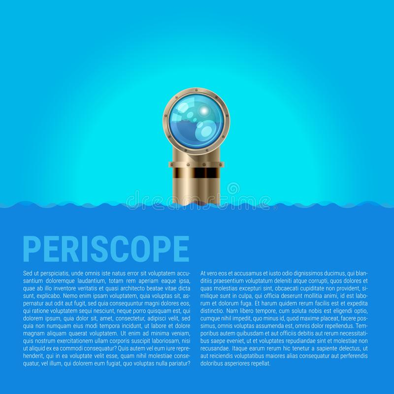 Υπόβαθρο περισκοπίων, διανυσματικό υπόβαθρο κυμάτων θάλασσας απεικόνιση αποθεμάτων