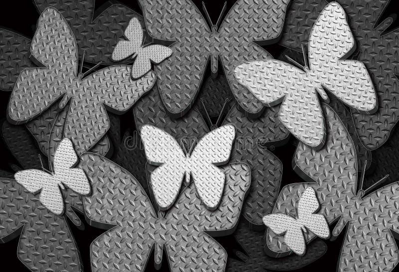 Υπόβαθρο 2 πεταλούδων στοκ φωτογραφία με δικαίωμα ελεύθερης χρήσης