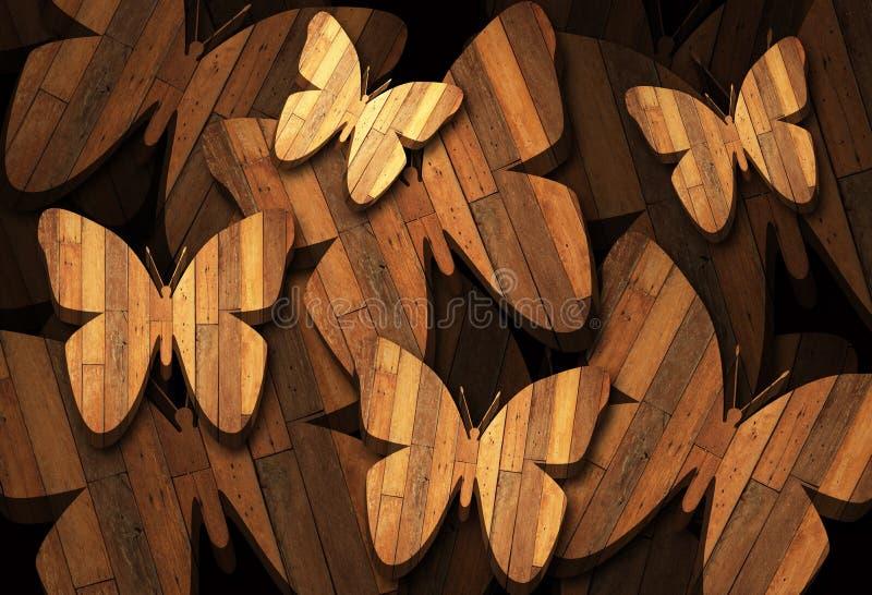 Υπόβαθρο 4 πεταλούδων στοκ εικόνα με δικαίωμα ελεύθερης χρήσης