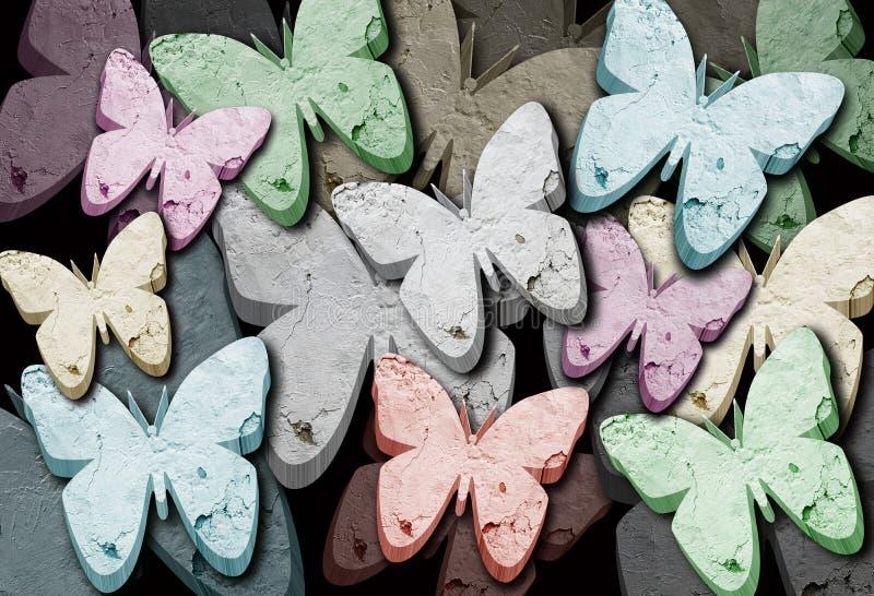 Υπόβαθρο 6 πεταλούδων στοκ φωτογραφίες με δικαίωμα ελεύθερης χρήσης
