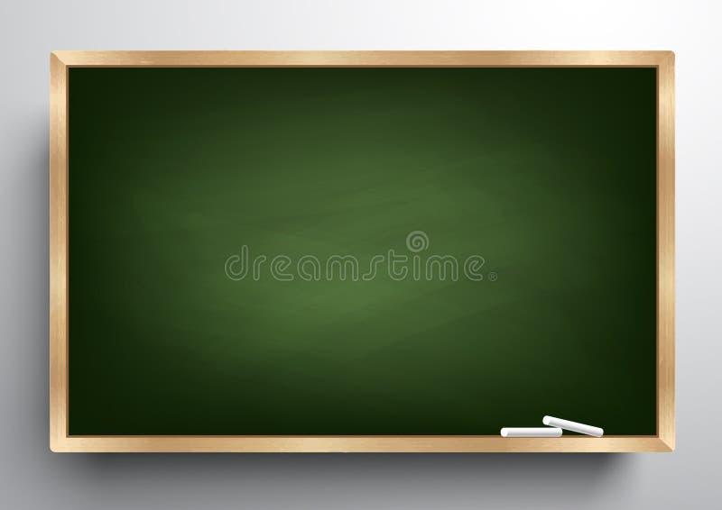 Υπόβαθρο πινάκων και ξύλινο πλαίσιο, τριμμένος έξω βρώμικος πίνακας κιμωλίας, διανυσματική απεικόνιση διανυσματική απεικόνιση