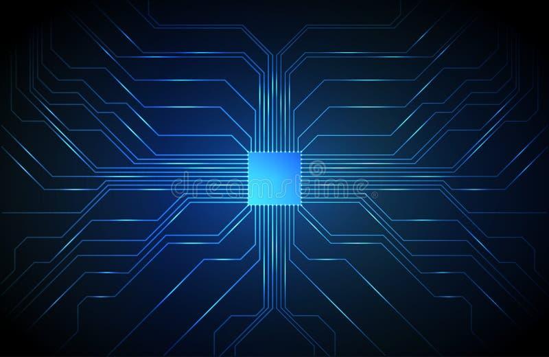 Υπόβαθρο πινάκων κυκλωμάτων, τεχνολογία ΚΜΕ απεικόνιση αποθεμάτων