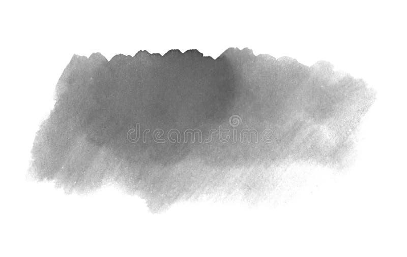 Υπόβαθρο πινέλων με το μαλακό γκρίζο watercolor ελεύθερη απεικόνιση δικαιώματος