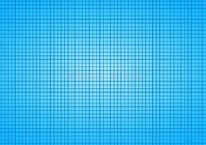 Υπόβαθρο πλέγματος κεραμιδιών τετραγώνων μπλε ουρανού διανυσματική απεικόνιση