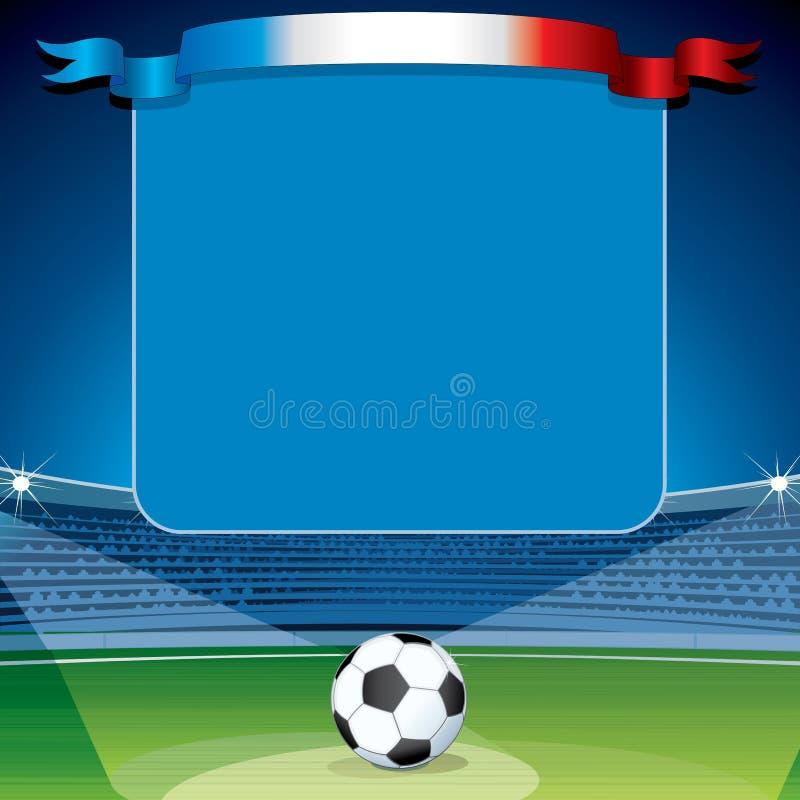 Υπόβαθρο ποδοσφαίρου Έτοιμος για το κείμενο και το σχέδιό σας ελεύθερη απεικόνιση δικαιώματος