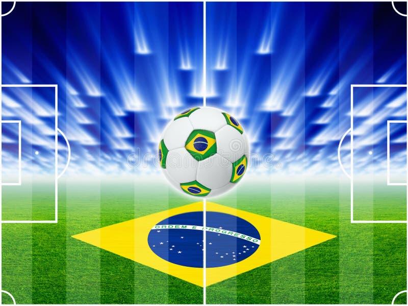 Υπόβαθρο ποδοσφαίρου απεικόνιση αποθεμάτων