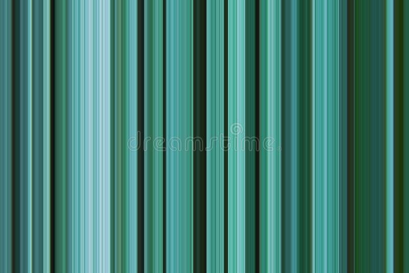 Υπόβαθρο πρασινάδων Ψηφιακή ριγωτή γραφική μονοχρωματική παλέτα χρωμάτων γραμμών σχεδίων κάθετη των γαλαζωπών πράσινων τυρκουάζ χ απεικόνιση αποθεμάτων