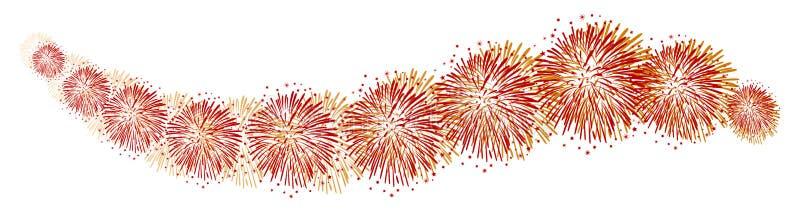 Υπόβαθρο πυροτεχνημάτων κυμάτων - διανυσματική απεικόνιση