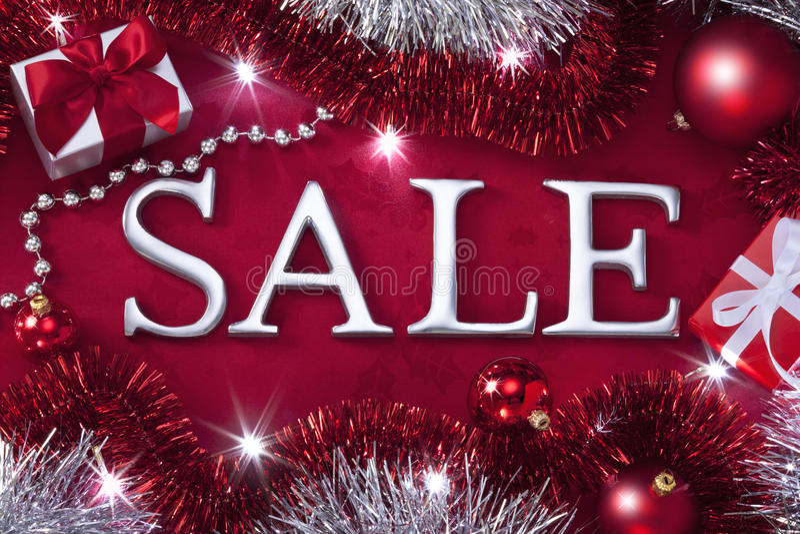 Υπόβαθρο πώλησης Χριστουγέννων στοκ εικόνες