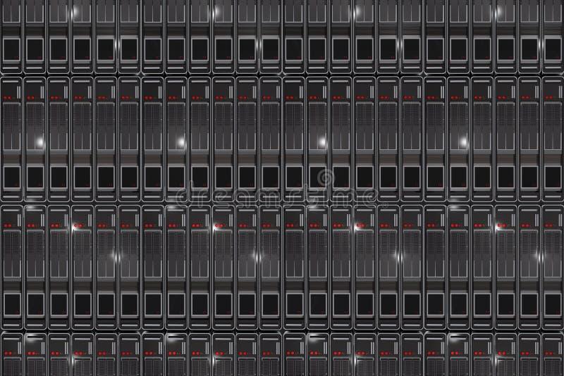 Υπόβαθρο ραφιών κεντρικών υπολογιστών διανυσματική απεικόνιση