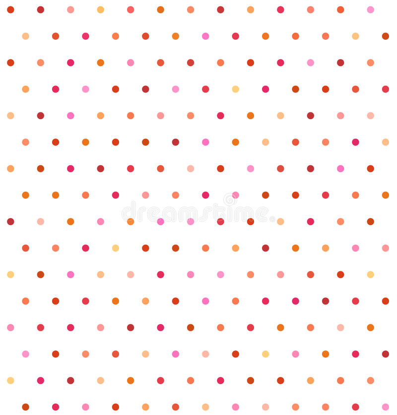 Υπόβαθρο σημείων Πόλκα Varicolored Μη άνευ ραφής διανυσματική απεικόνιση