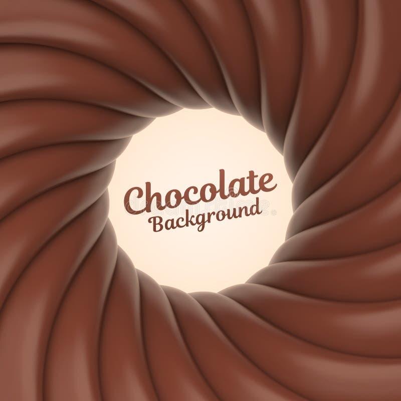 Υπόβαθρο στροβίλου σοκολάτας με τη θέση για το περιεχόμενό σας απεικόνιση αποθεμάτων