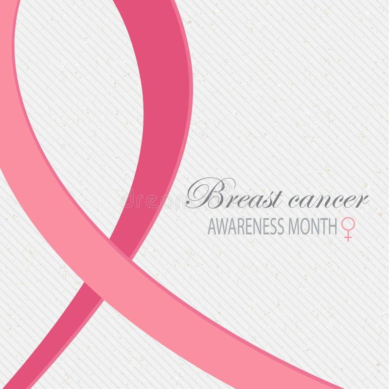 Υπόβαθρο συνειδητοποίησης καρκίνου του μαστού απεικόνιση αποθεμάτων
