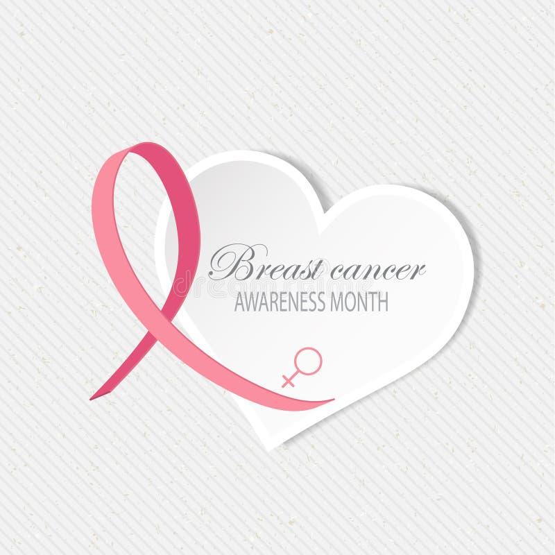Υπόβαθρο συνειδητοποίησης καρκίνου του μαστού διανυσματική απεικόνιση
