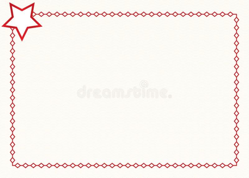 Υπόβαθρο συνόρων πιστοποιητικών αστεριών Σύνορα αστεριών στο άσπρο υπόβαθρο 21 Ιουλίου 2017 διανυσματική απεικόνιση