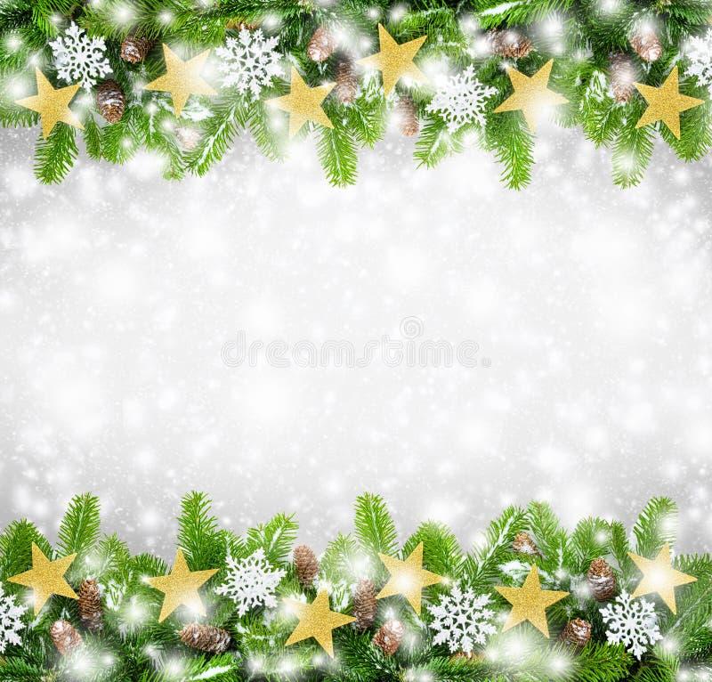 Υπόβαθρο συνόρων Χριστουγέννων στοκ φωτογραφία με δικαίωμα ελεύθερης χρήσης