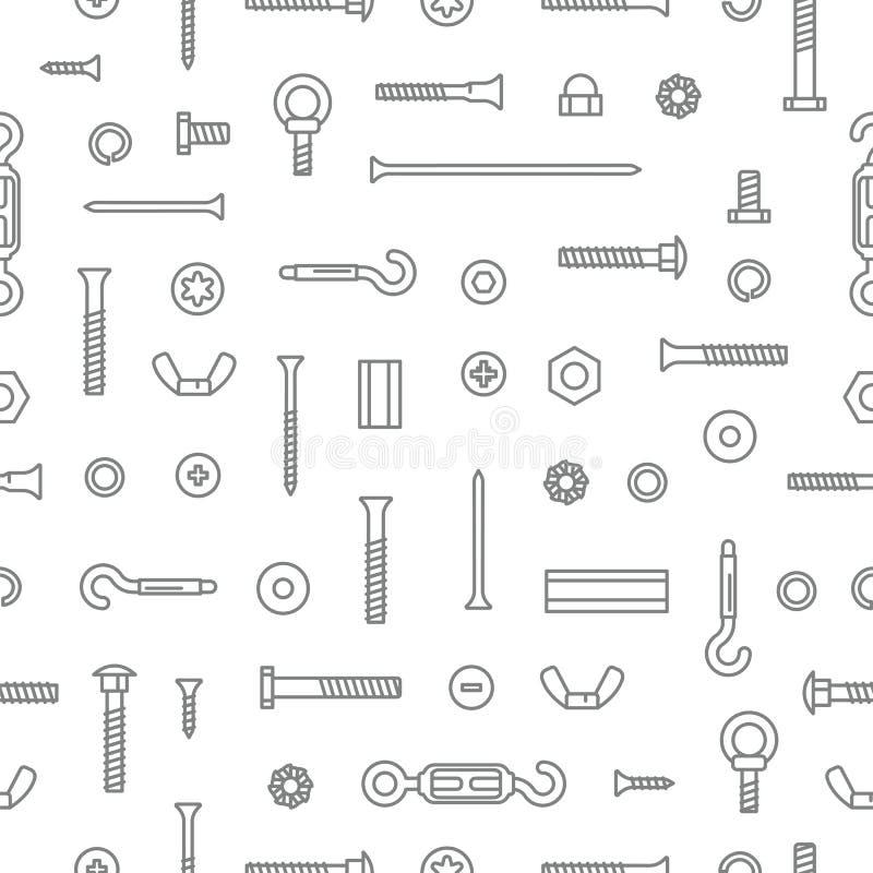 Υπόβαθρο σχεδίων υλικού, βιδών, μπουλονιών, καρυδιών και καρφιών κατασκευής Εξοπλισμός ανοξείδωτος, σύνδεσμοι, σταθεροποίηση μετά ελεύθερη απεικόνιση δικαιώματος